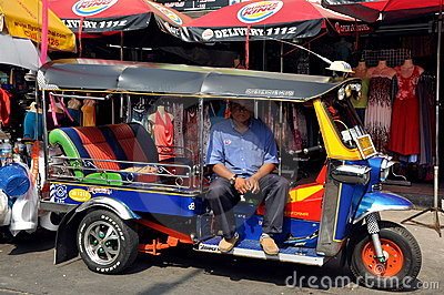 Bangkok, Thailand: Tuk-tuk on Khao San Road Editorial Stock Image