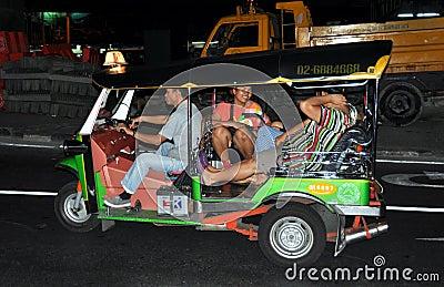 Bangkok, Thailand: Tuk-Tuk on Sathorn Road Editorial Image