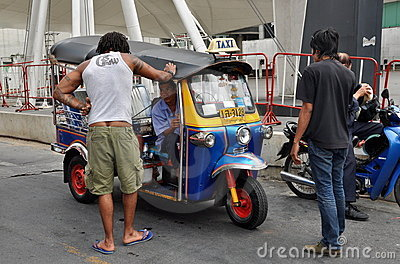 Bangkok, Thailand: Tuk-Tuk Taxi Editorial Image