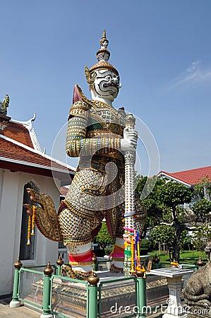 Bangkok, Thailand: Wat Arun Guardian Demon Editorial Image