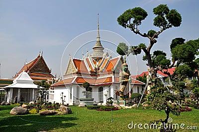 Bangkok, Thailand: Wat Arun Monastic Quarters Editorial Photography
