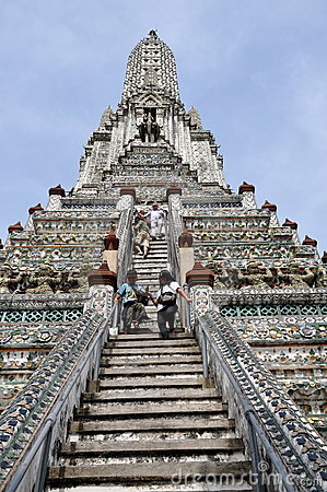 Bangkok, Thailand: Wat Arun (Temple of Dawn) Editorial Stock Photo
