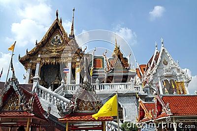 Bangkok, Thailand: Wat Hua Lamphong Editorial Photography