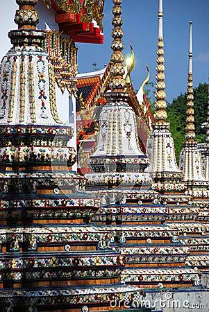 Bangkok, Thailand: Wat Pho Chedis