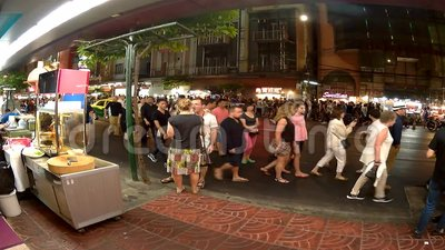 Bankok street timeleaps, nightlife of the city. stock video footage