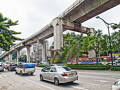 Bangkok traffic Editorial Stock Photo