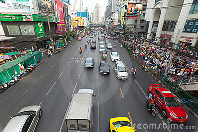 Bangkok Traffic Editorial Stock Image