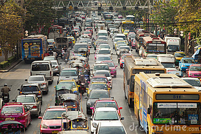 Bangkok Traffic Editorial Image