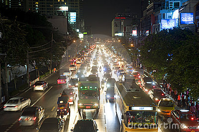 Bangkok traffic jam Editorial Stock Image
