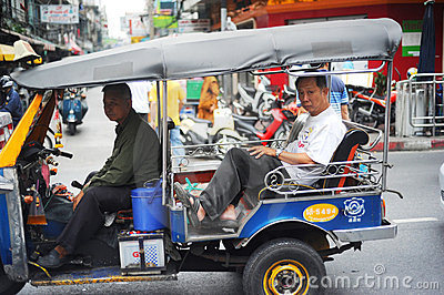 Bangkok Tuk-tuk Editorial Photography