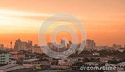 Bangkok view in evening light