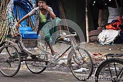 Bangladesh: Bicycle rickshaw Editorial Photography