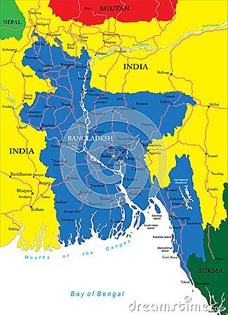 Free Bangladesh Map Stock Images - 30618674