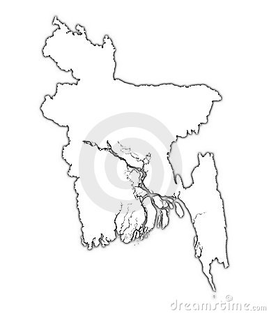 Bangladesh outline map