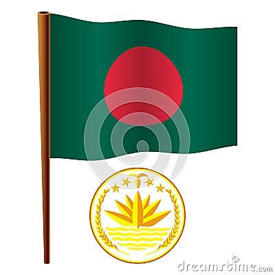 Bangladesh wavy flag