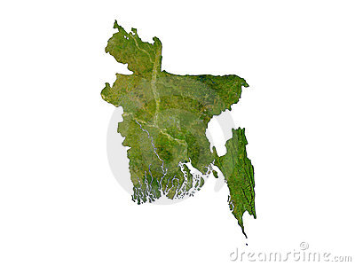 Bangladesh On White Background