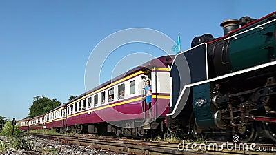 Banguecoque, Tailândia - 12 de agosto: Trem especial do motor de vapor