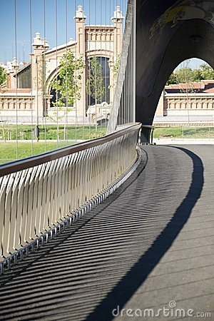 Banisters of footbridge