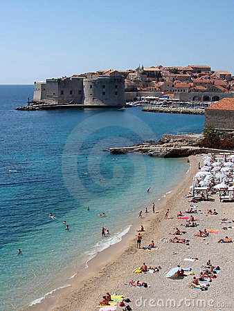 Free Banje Beach Dubrovnik Stock Photography - 5111832