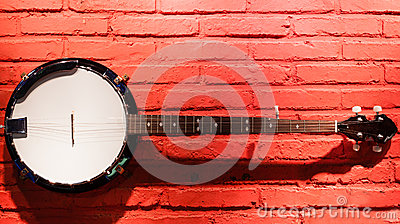 Banjo hanging on the wall