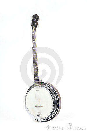 Free Banjo Isolated On A White Background Stock Photo - 8493920