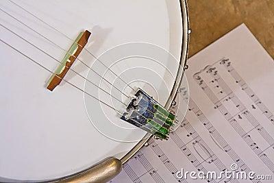 Banjo over music