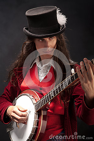 Banjo player