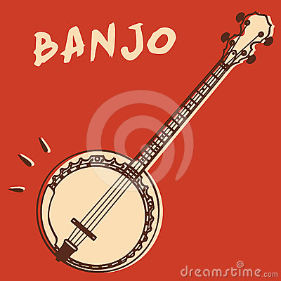 Free Banjo Vector Royalty Free Stock Images - 24453979