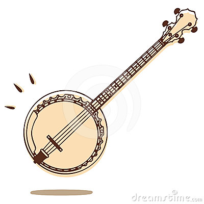Free Banjo Vector Stock Photo - 24487230