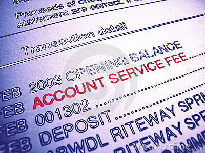 Bank Account Service Fee Statement