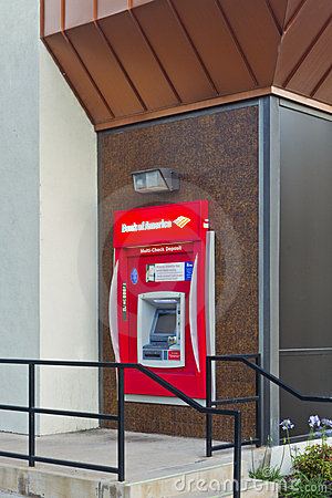 Bank Of America ATM Machine Editorial Stock Photo