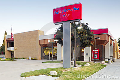 Bank of America Branch Location Editorial Photo
