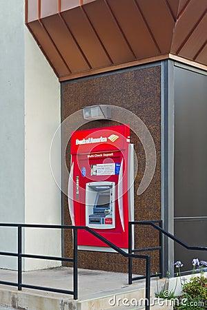 Bank of America la máquina de la atmósfera Foto de archivo editorial
