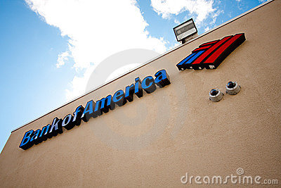 Bank of America sign Editorial Photo