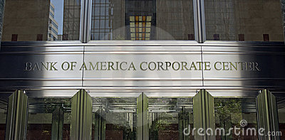Bank of America World Headquarters Editorial Stock Image