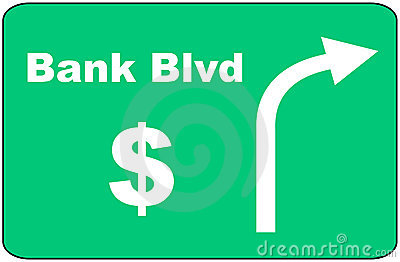 Bank Blvd Sign