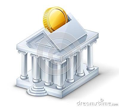 Bank building — moneybox