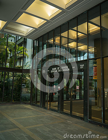 Bank of Canada Front Entrance Editorial Photography