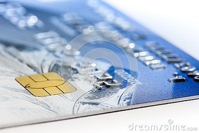 Bank card closeup Stock Photo