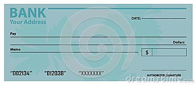 Bank Check / Cheque Template Stock Vector - Image: 46820935