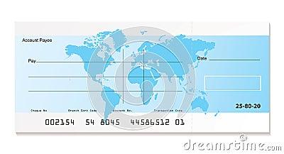 Bank cheque world
