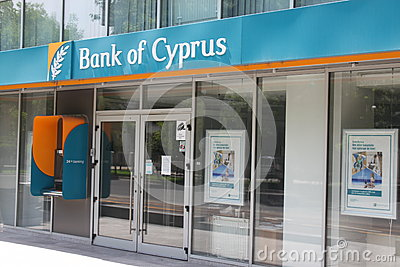 Bank of Cyprus branch Editorial Photography