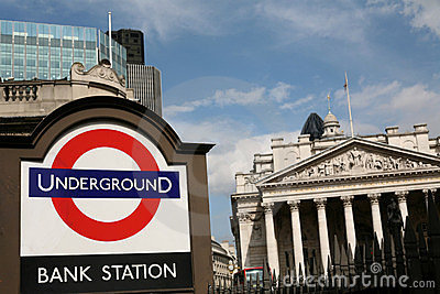 Bank of England Underground Station Editorial Stock Image