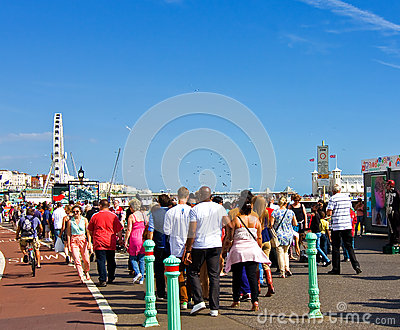 Bank holiday in Brighton Editorial Stock Photo