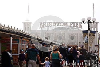 Bank Holiday in Brighton Editorial Photo