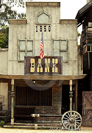 Free Bank In Wild West Royalty Free Stock Images - 19757369