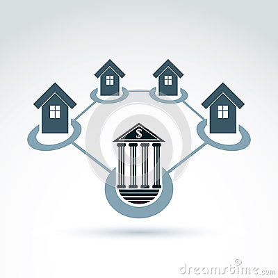 Bank and invest and credit customers, real estate crediting and