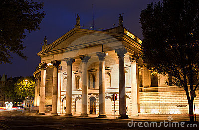 Bank of Ireland at College Green Editorial Stock Image