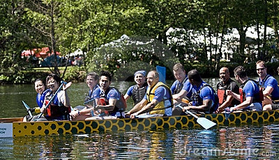 Bank of Montreal BMO Dragon Boat Editorial Stock Image