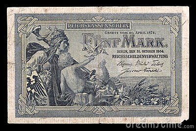 Bank note of Keiser Germany. 1904. Obverse.